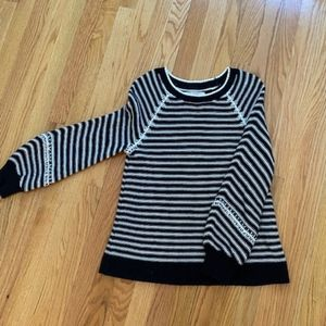 LOFT over sized Striped sweater